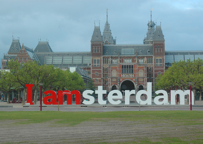 """I feel like you need to have at least one shot of the """"I Amsterdam"""" in the Museumplein."""