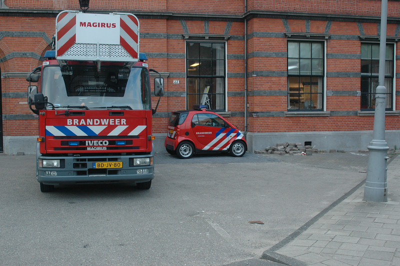 If you have a fire in Amsterdam, I hope they send the truck and not the fire chief in that toy car he drives.