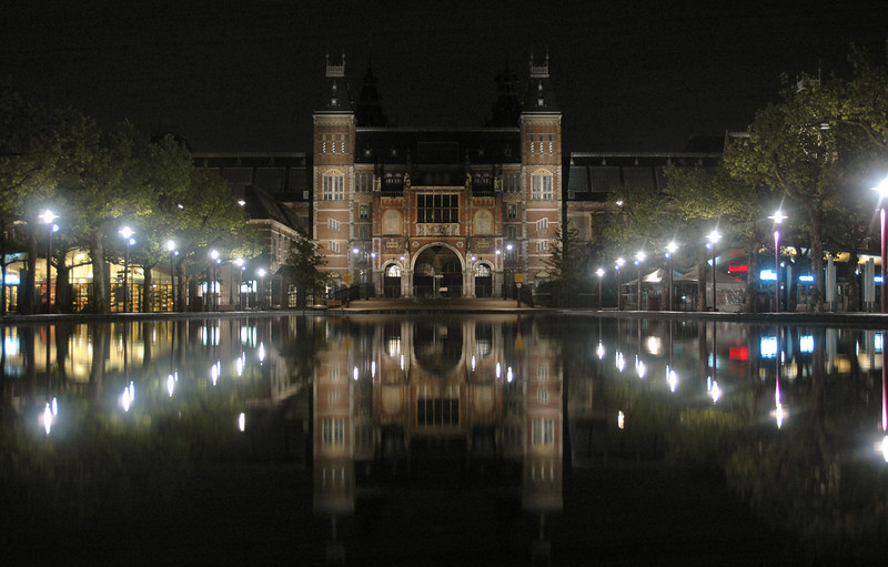 Another attempt to get a crisp shot of the Rijksmuseum at the Museumplein (Museum Square) in Amsterdam.
