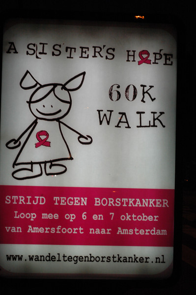You REALLY support the cause when you do a **60K** walk to raise money.