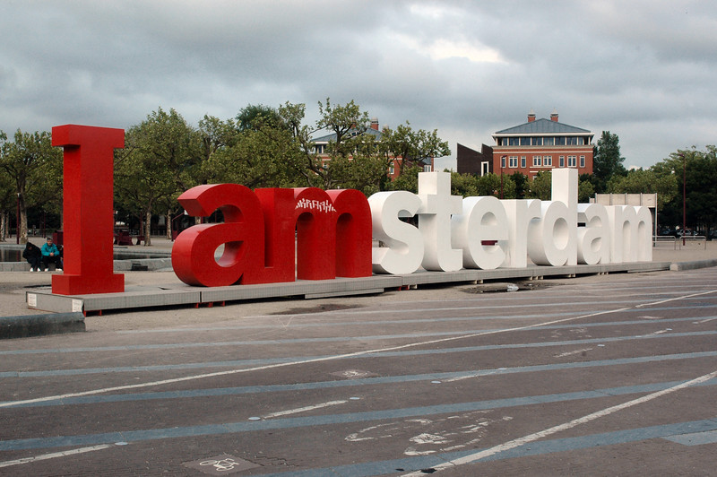 """One more of the """"stock photos"""" of the sign in the Museumplein."""