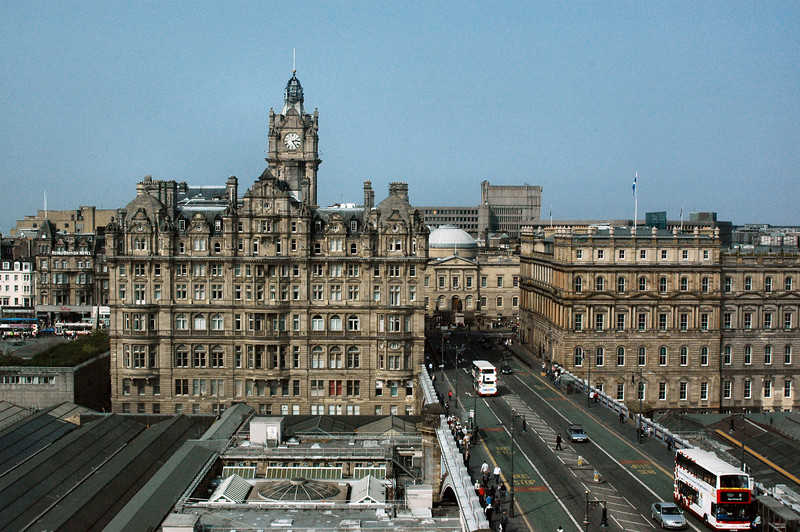 The view from my hotel room, Balmoral Hotel.
