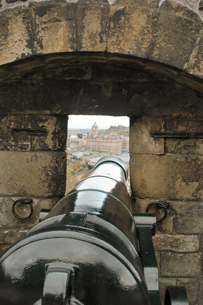 If the Castle open fire on the Balmoral Hotel, this is what the gunners would see.