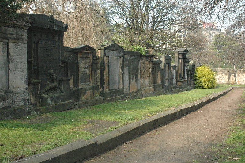 Inside the cemetary of St. Cuthbert parish.  Lots of impressive monuments to dead people.