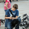 A minute after I snapped this in Trafalgar Square, he let the pigeon go and I missed an awesome shot.