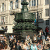 Piccadilly Circus memorial fountain, with The Angel of Christian Charity on top.