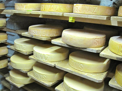 Cheeses in Zinal