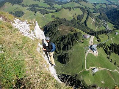 Via Ferrata in Gruyeres (Switzerland, 2011)