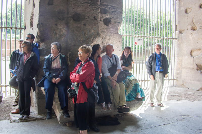 Rome - The Group at the Colosseum-3569