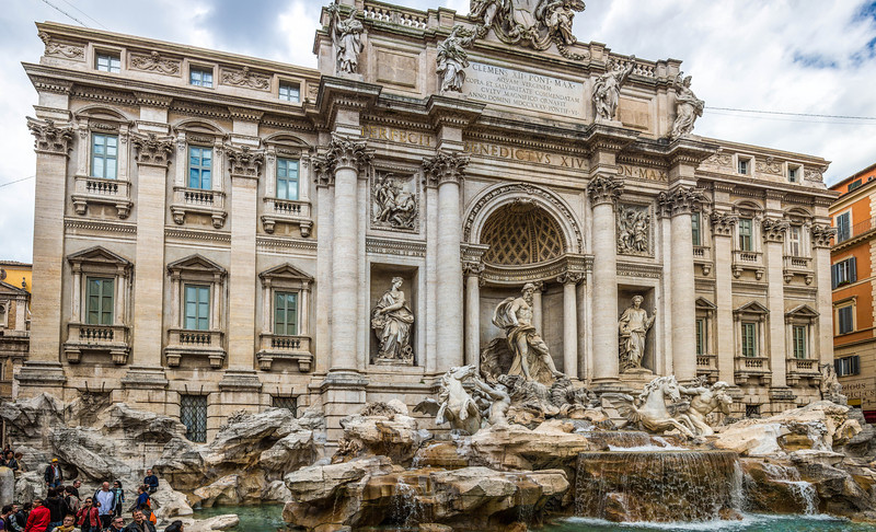 Rome-Trevi Fountain-