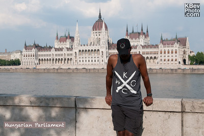 I KWOC in front of the Hungarian Parliament