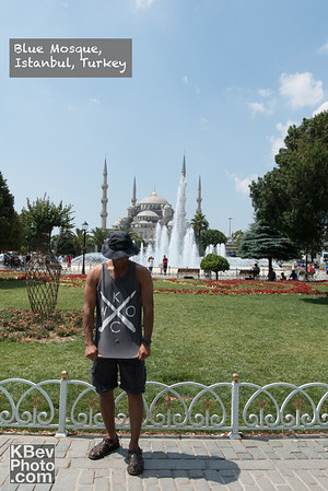 I KWOC in Istanbul Turkey in front of the Blue Mosque