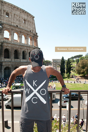 I KWOC at the Colosseum in Rome