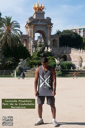 I KWOC at the Cascade Fountain in Parc de la Ciutadella in Barcelona