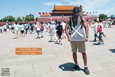 I KWOC in Tiananmen Sqare near the Forbidden City in China