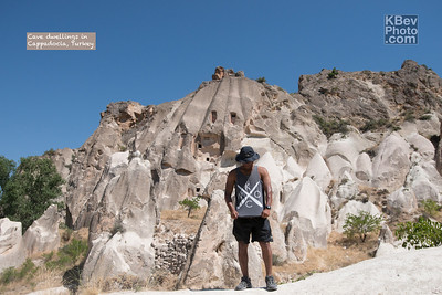 I KWOC in Cappadocia, Turkey where people carved homes into the hills.