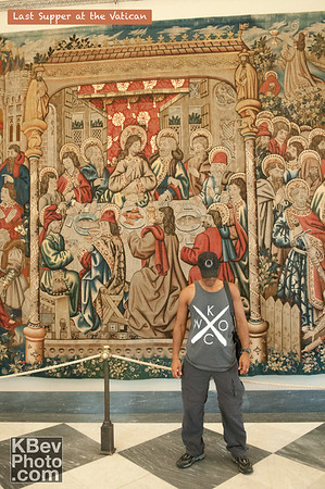 I KWOC at the Vatican in front of the Last Supper