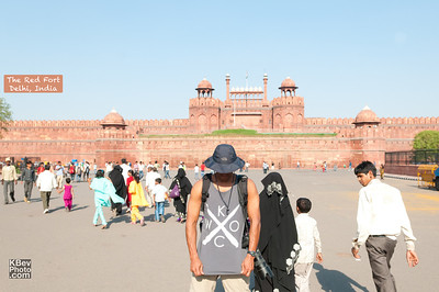 I KWOC at the Red Fort in Delhi, India