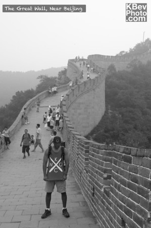 I KWOC at the Great Wall near Beijing