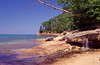 Small waterfall at Pictured Rocks #MIC2003-5