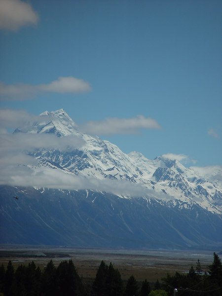 The clouds finally started to clear on the way back from the Hermitage, so we stopped at the Mt Cook Airport for some pictures.