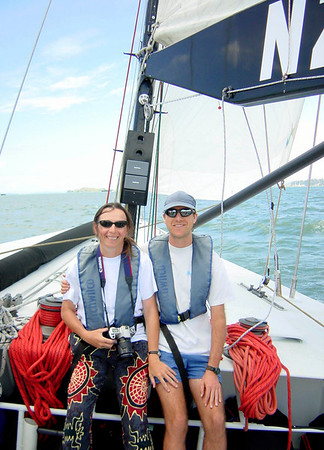 Sailing on NZL 40