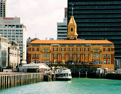 Ferry building in Auckland.