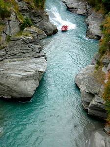 Jet boating on the Shotover River