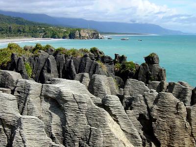 Pancake rocks (Punakaiki) along the West Coast