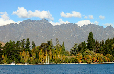 The Remarkables (breathtaking mountains) by Queenstown, popular town on the shores of Lake Wakatipu