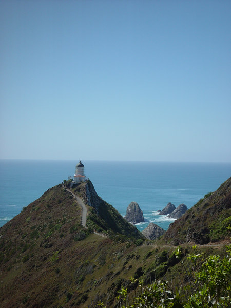 The famous Nugget Point light house.<br /> Sony F707