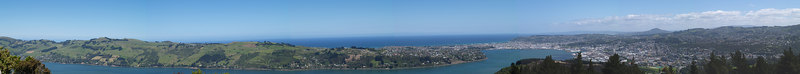Otago Peninsula and Harbor as seen from Signal Hill
