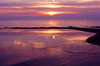 View of sunset on Lake Erie near Raccoon Park