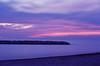 Presque Isle beach at sunset
