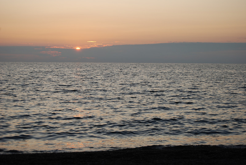#PRE2009-1 Sunset on the shores of Lake Erie at Presque Isle