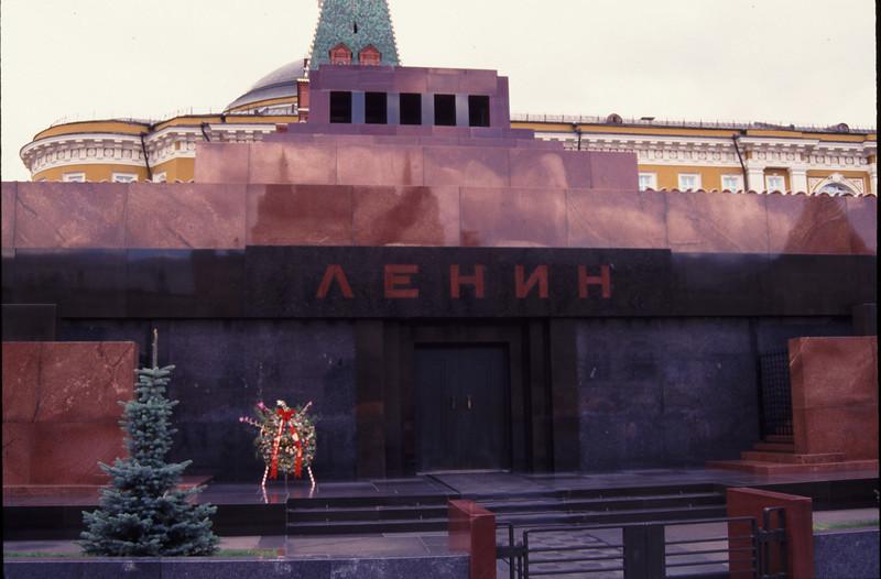 Vladimir Lenin's tomb. Main leader of the Bolshevik Revolution in the early 1900's. #RUS2001-12