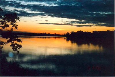 Sunrise over the Rio Napo in Coca (1996) One of the main rivers in this region is the Napo which, like most of the rivers in the Oriente, is a tributary of the Amazon (which lies further east in Peru).