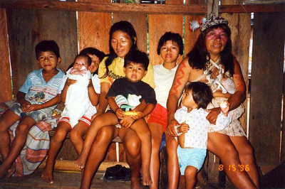 I stayed with this Huaorani family in 1996. What an adventure!