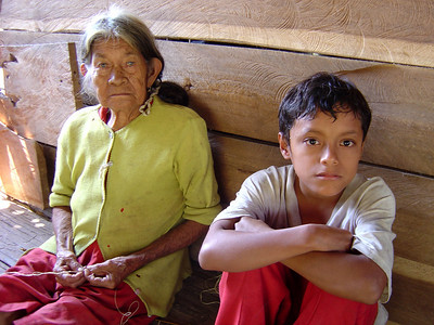 Family in the Amazon forest