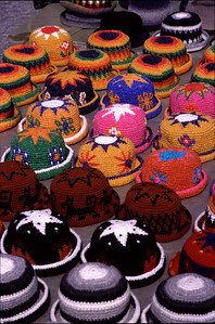 Colorful hats (Otavalo in 2004)