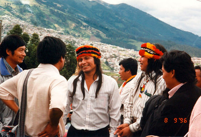 Achuar from the Amazon Forest in Quito (meeting for the indigenous peoples of the Americas)
