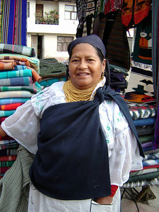 Very friendly lady in Otavalo (2004)