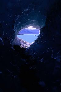 View through the glacier
