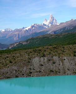 hike to Glacier Huemul: view on Fitz Roy