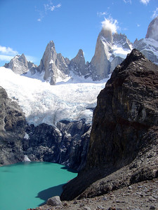 Laguna de Los Tres: we were very lucky with the weather conditions