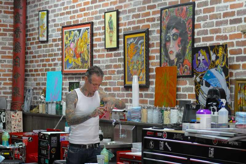 Miami Ink artist getting ready