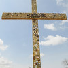 A close-up of the cross outside the tent near East Jerusalem BC (3 of 3)