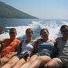 Kids are having fun on the boat<br /> <br /> Mulatnak a gyerekek a csónak hátuljában