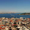 View from the Galata Tower - The Bosphorus River. You can see the Topkapi Palace and The Hagia Sophia in the Background<br /> Istanbul, Turkey