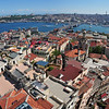 View of the city from the Galata Tower<br /> Istanbul, Turkey
